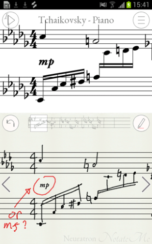 Music Notation on the iPad – anywhere, anytime! (Handwritten music recognition)