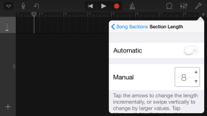 Change the Length to Automatic instead of 8 bars