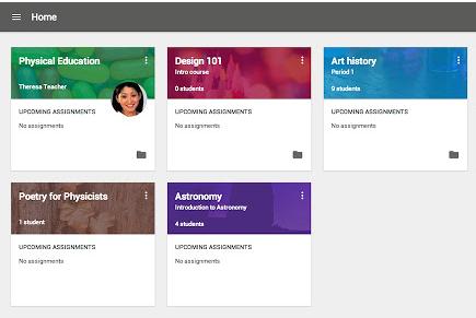 Google Classroom Screen